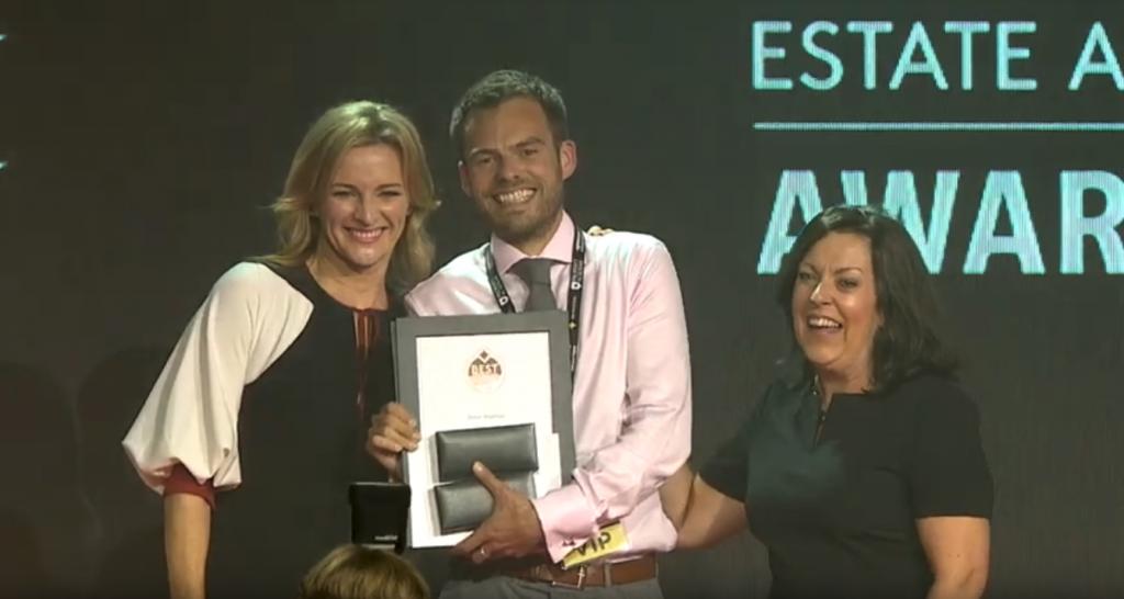 Patrick Connolly accepting BEAG award