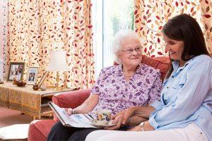 talking to elderly