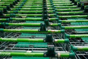 waitrose super market trolleys